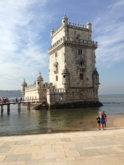 Torre De Belem: The line was long, but sitting with water lapping at my feet was just fine.