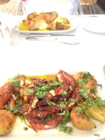 Lunch at Beira Mar restaurant. Tell me you wouldn't order the octopus?! Corey had the second best dish, the cod.