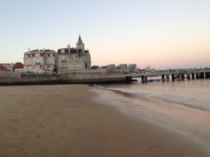 Beach in Old Town. The Cascais Triathlon was being set up just down the shore.