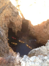 Kayaking tours through the caves.