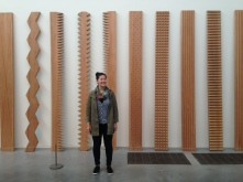 We loved this room full of Japanese artists, and these wood panels felt like an artistic forest.