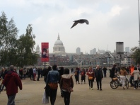 From the front of the Tate Modern. I caught a bird?