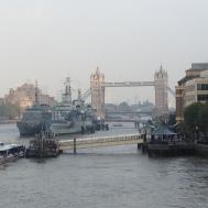 Tower Bridge taken from the London Bridge.