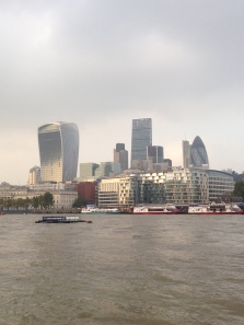Skyline from across the Thames River.