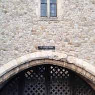 Traitor's Gate. This gate drops into the moat below.