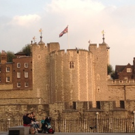 Check the wavin' flag on the Tower of London.