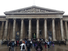 British Museum entrance while Anne was gettin' her flat white fix.