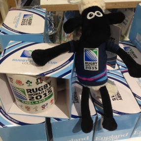 Shaun the Sheep wears the rose for England.