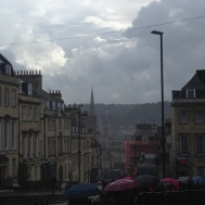 Students touring in Bath.