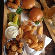 We needed the Seafood platter to wash down that cider.