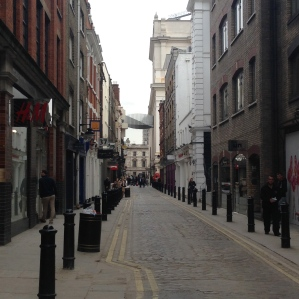 Little lane in Covent Garden while I wait for Wayne.