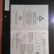 The museum showcased a variety of menus. This one was made to look like an IKEA instruction manuel.