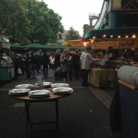 A view from my chair at Borough Market. I was apparently sitting in the 'break chair' for the fish and chips workers.