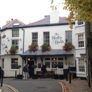 Listed in the tour books, and also by word of mouth, the Holly Bush is a great spot for a pint- complete with a fireplace!