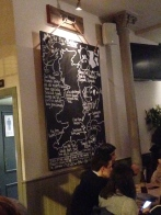The Pig and Butcher meat menu.