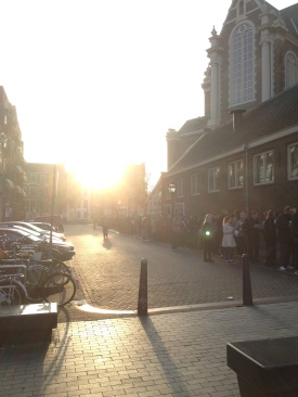 Worth the wait at the Anne Frank House.