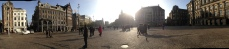 Panoramic of Dam Square.
