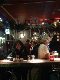 Amstel beer in Amsterdam. I took home a half pint glass for the memories.