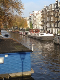 There are 165 canals in Amsterdam, almost 60 miles of canal.