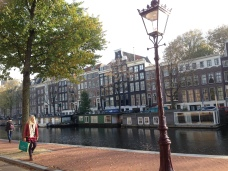 My iPhone tells me this as a 17th century canal. I believe we were on the Prinsengracht ring (prince ring).