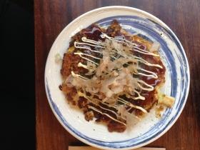 Plate of the day- squid okonomiyaki.