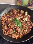 I made this! Eggplant and chickpeas with tomatoes. Perfect veggie dish!