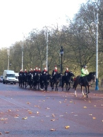 Changing of the horse guard. You've got to go really early to get a shot with Buckingham Palace.