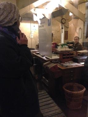 Underground in the Churchill War Rooms. Definitely worth a visit.