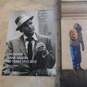 This was an interesting mix of 3D and print art on our walk to the Louvre.