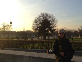 Jardin Tuileries right outside of the Louvre.