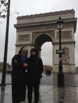 Arc De Triomphe- we climbed the 245 steps to the top on a rainy day in Paris.