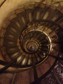 The staircase within Arc de Triomphe.