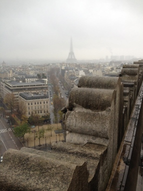 From the top of Arc de Triomphe on day 2 of our trip, between the Monet Museum and the Arts Deocratifs museum.