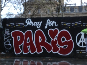 Found at the Place de la Republique. We were in Paris just nine days after the attacks at the Bataclan.
