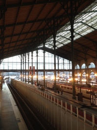 Gard du Nord looks like the Polar Express when it's decorated for the holidays.