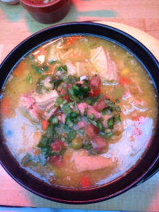 Tripe soup from El Rancho de Lalo in Brixton. Can't wait to go back.