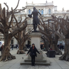 The opening piece at the Ai Weiwei exhibit at the Royal Academy of Art in London. The trees are constructed with wood from all over China. The exhibit was incredibly well done-if Ai Weiwei comes to town, check out his political and creative pieces.