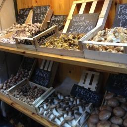 Mushroom variety at Borough market.