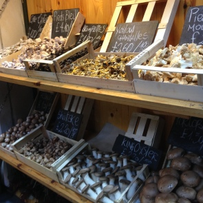 Mushroom variety at Borough market.
