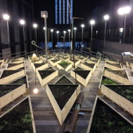 """Turbine Hall in the Tate Modern is home to Abraham Cruzvillegas' """"Empty Lot"""". I had a shot of this on an earlier blog post, London Anne to Z, before anything was growing. Now see what the soil and dirt from all over London has to offer."""