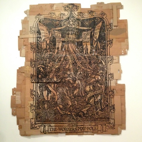The Tate Modern displays such a range of pieces. This one is done with ink and cardboard.