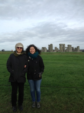 """Seeing Stonehenge up close and personal on our """"England in One Day"""" coach tour."""