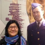 "Roald Dahl was 6'5""- how do you measure up? My mom and the Vicar of Nibbleswicke (Roald Dahl Museum)."