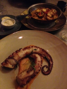 I ate octopus once a day. Apologies to our sea creature friends.