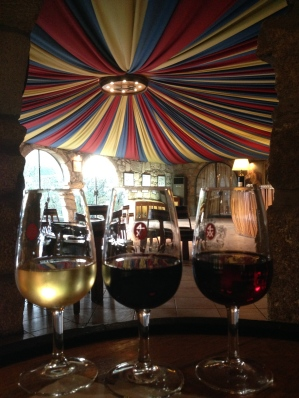 Taylor's tasting room: chip white, ruby, tawny 10 years.
