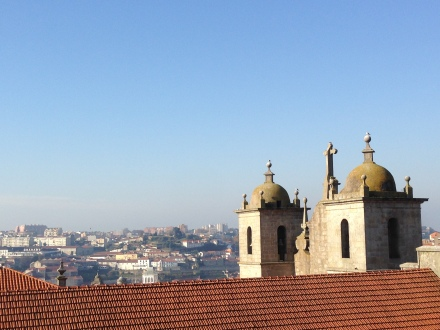 Looking out over the rooftops from the Se Cathedral.