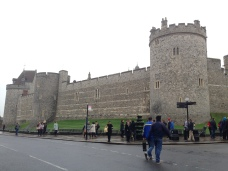 The view of Windsor Castle when you arrive at the Windsor & Eton train station.