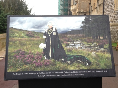 """This caption reads """"The Queen of Scots, Sovereign of the Most Ancient and Most Noble Order of the Thistle and Chief of the Chiefs, Balmoral 2010"""". That is power."""