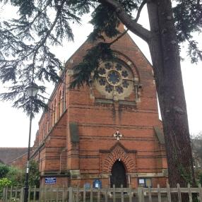 A neighborhood church.