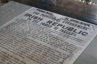 The proclamation of independence read at the GPO